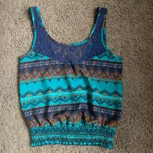 dELiA*s Colorful Tank Top with Lace